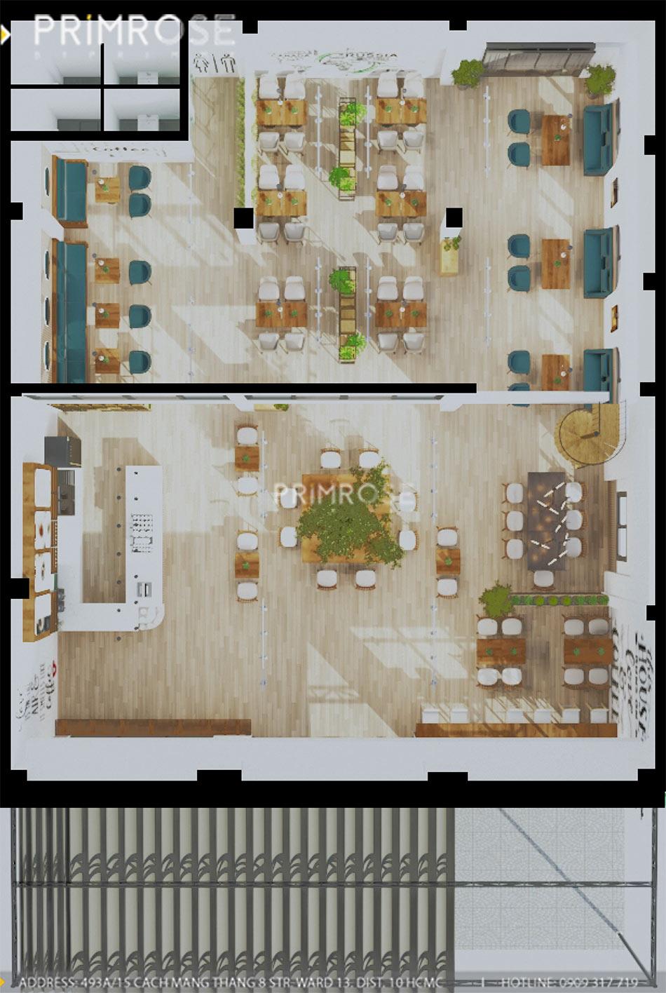 Loc Home Coffee - Đốn tim khách với thiết kế quán cafe phong cách Bắc Âu THIET KE NOI THAT COFFEE BINH CHANH 060820 17 1