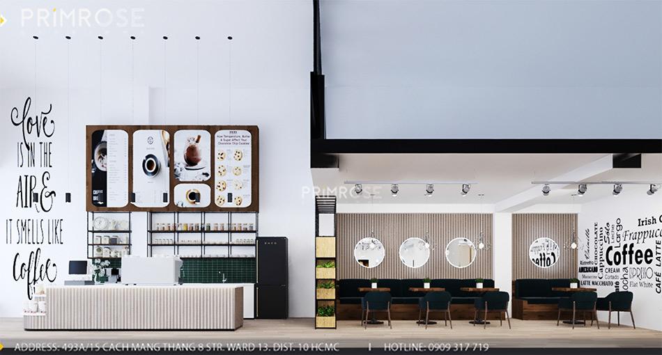 Loc Home Coffee - Đốn tim khách với thiết kế quán cafe phong cách Bắc Âu THIET KE NOI THAT COFFEE BINH CHANH 060820 17 10