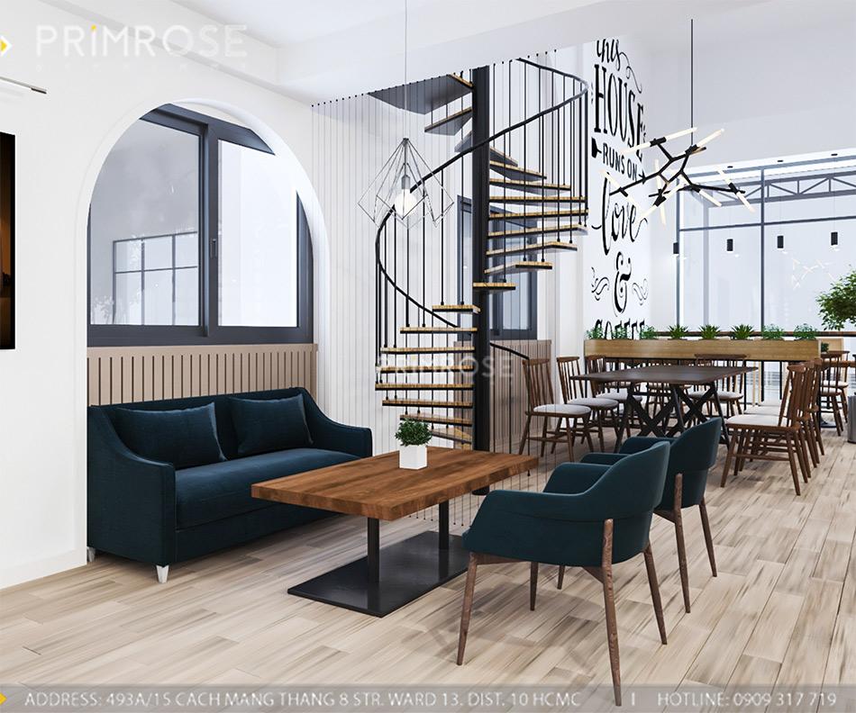 Loc Home Coffee - Đốn tim khách với thiết kế quán cafe phong cách Bắc Âu THIET KE NOI THAT COFFEE BINH CHANH 060820 17 11