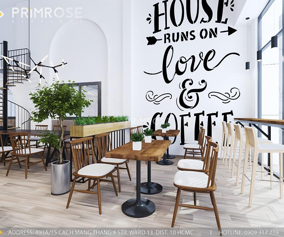 Loc Home Coffee - Đốn tim khách với thiết kế quán cafe phong cách Bắc Âu THIET KE NOI THAT COFFEE BINH CHANH 060820 17 16