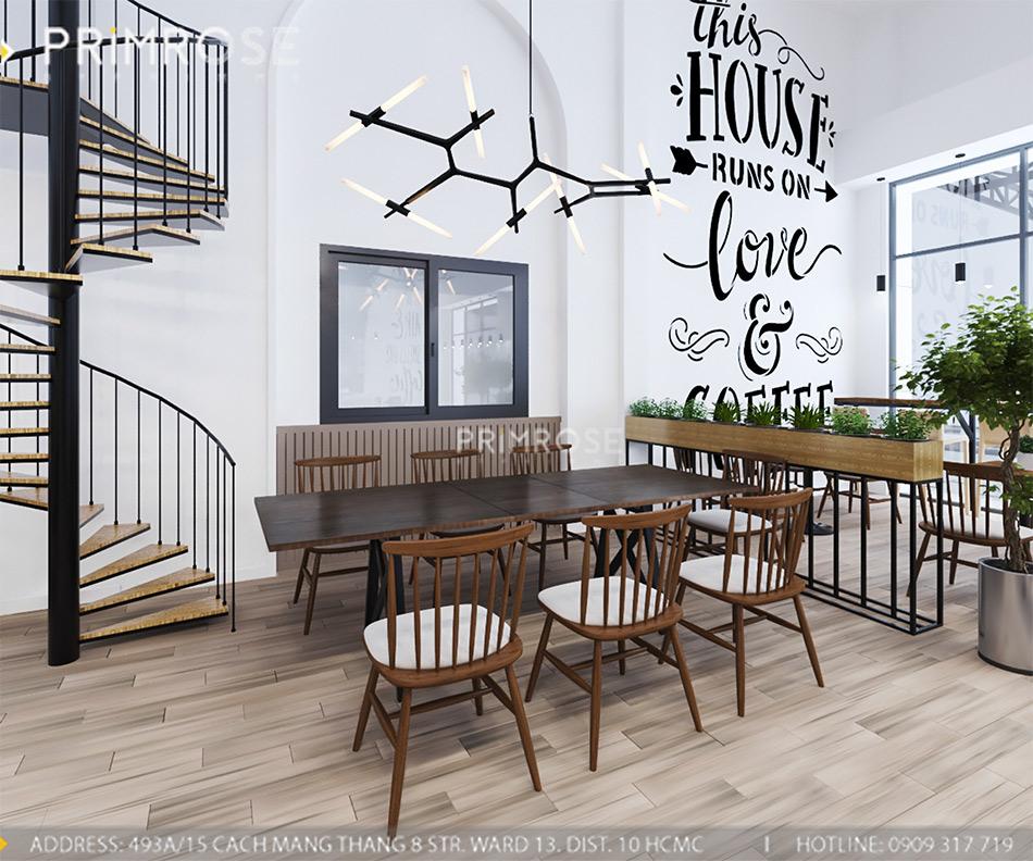 Loc Home Coffee - Đốn tim khách với thiết kế quán cafe phong cách Bắc Âu THIET KE NOI THAT COFFEE BINH CHANH 060820 17 17