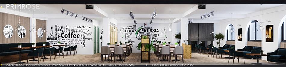 Loc Home Coffee - Đốn tim khách với thiết kế quán cafe phong cách Bắc Âu THIET KE NOI THAT COFFEE BINH CHANH 060820 17 4