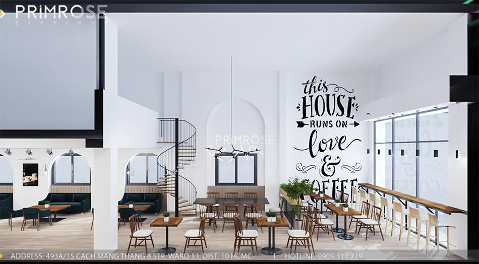 Loc Home Coffee - Đốn tim khách với thiết kế quán cafe phong cách Bắc Âu THIET KE NOI THAT COFFEE BINH CHANH 060820 17 8