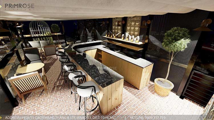 Phố Ngự - Không gian cafe sân thượng phong cách Min - Century thiet ke noi that quan cafe 12