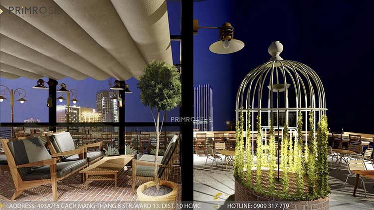 Phố Ngự - Không gian cafe sân thượng phong cách Min - Century thiet ke noi that quan cafe 14
