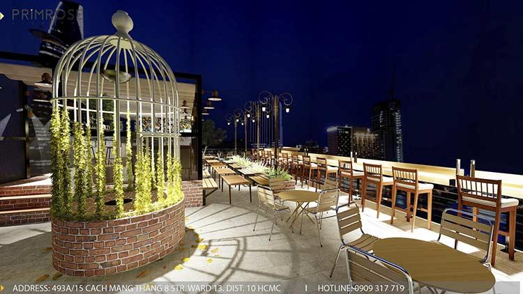 Phố Ngự - Không gian cafe sân thượng phong cách Min - Century thiet ke noi that quan cafe 18