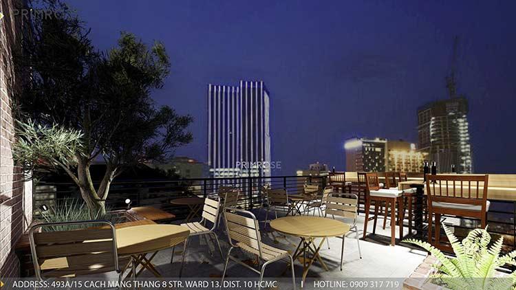 Phố Ngự - Không gian cafe sân thượng phong cách Min - Century - Dịch vụ thiết kế quán cafe thiet ke noi that quan cafe 9