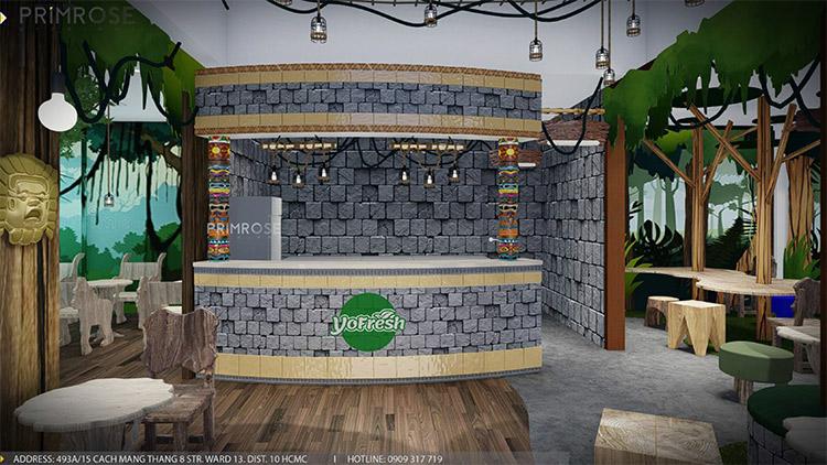 YoFresh – thiết kế quán trà sữa theo phong cách rừng nhiệt đới giữa lòng thành phố thiet ke quan tra sua yogurt ver 2 1 1