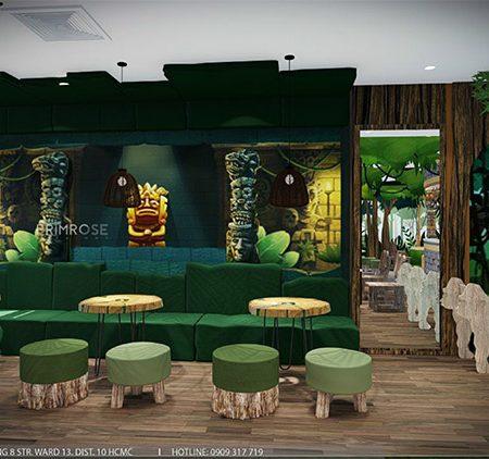 YoFresh – thiết kế quán trà sữa theo phong cách rừng nhiệt đới giữa lòng thành phố