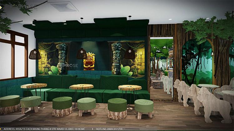 YoFresh – thiết kế quán trà sữa theo phong cách rừng nhiệt đới giữa lòng thành phố thiet ke quan tra sua yogurt ver 2 1 2