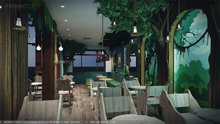 YoFresh – thiết kế quán trà sữa theo phong cách rừng nhiệt đới giữa lòng thành phố thiet ke quan tra sua yogurt ver 2 1 3