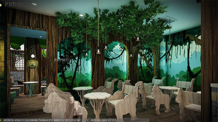 YoFresh – thiết kế quán trà sữa theo phong cách rừng nhiệt đới giữa lòng thành phố thiet ke quan tra sua yogurt ver 2 1 5