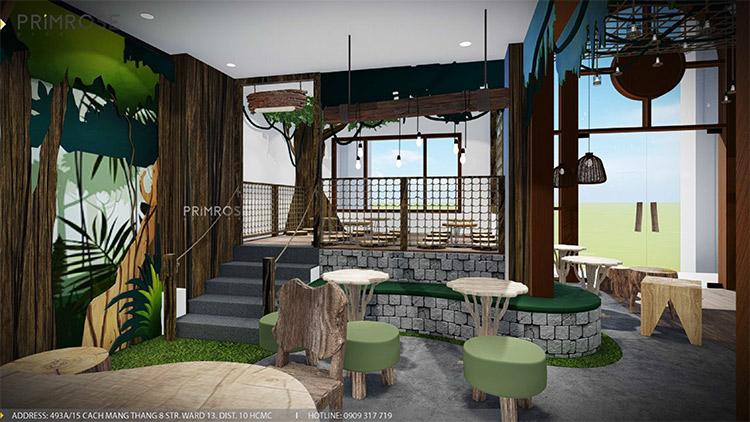 YoFresh – thiết kế quán trà sữa theo phong cách rừng nhiệt đới giữa lòng thành phố thiet ke quan tra sua yogurt ver 2 1 7