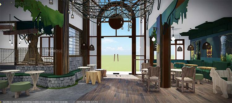 YoFresh – thiết kế quán trà sữa theo phong cách rừng nhiệt đới giữa lòng thành phố thiet ke quan tra sua yogurt ver 2 1 8