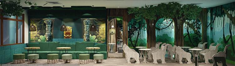 YoFresh – thiết kế quán trà sữa theo phong cách rừng nhiệt đới giữa lòng thành phố thiet ke quan tra sua yogurt ver 2 1 9