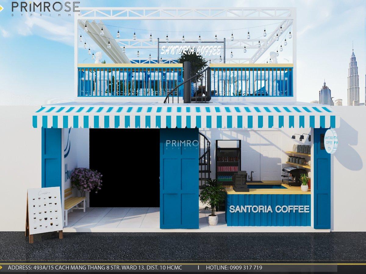 Cafe santoria - Không gian đậm chất Địa Trung Hải THIET KE QUAN CAFE DEP 10