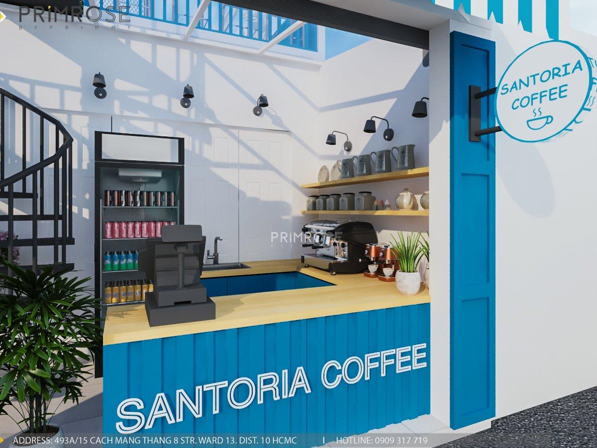Cafe santoria - Không gian đậm chất Địa Trung Hải THIET KE QUAN CAFE DEP 12