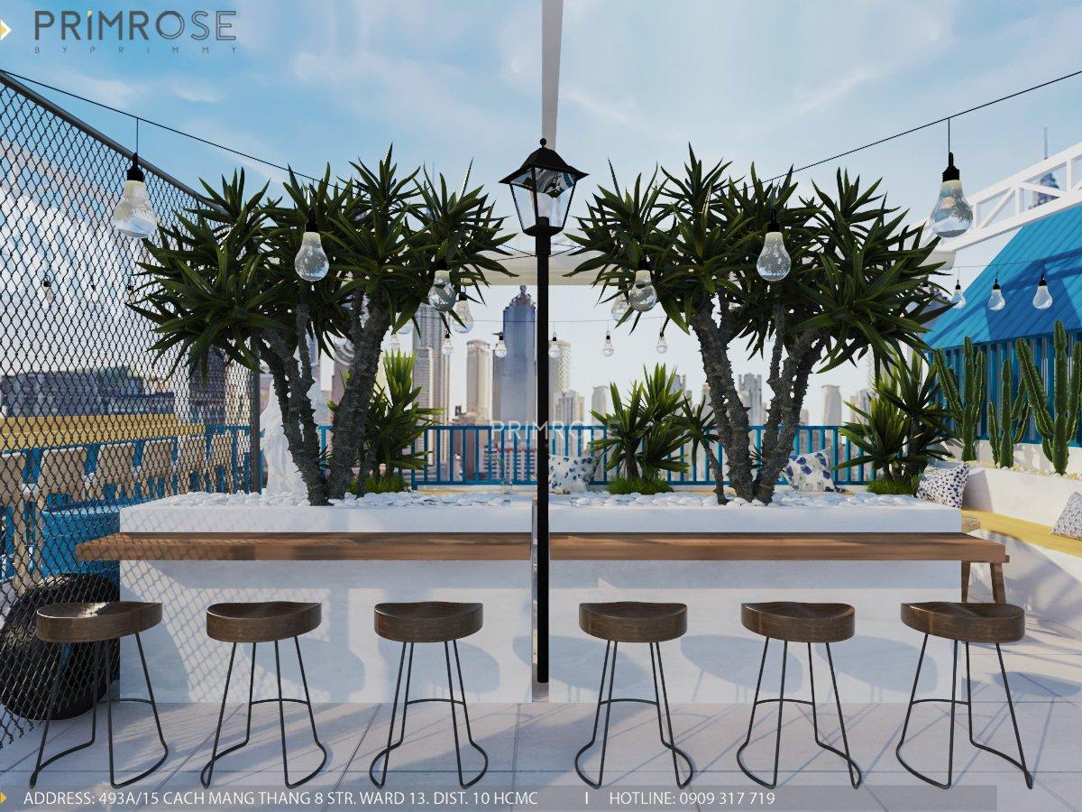 Cafe santoria - Không gian đậm chất Địa Trung Hải THIET KE QUAN CAFE DEP 9
