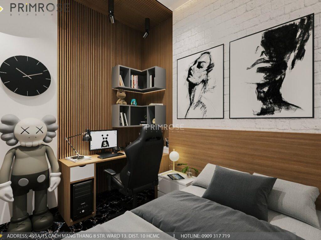 Thiết kế nội thất nhà phố 1 trệt 1 lầu diện tích 150m2 thiet ke noi that nha pho hien dai 2 1