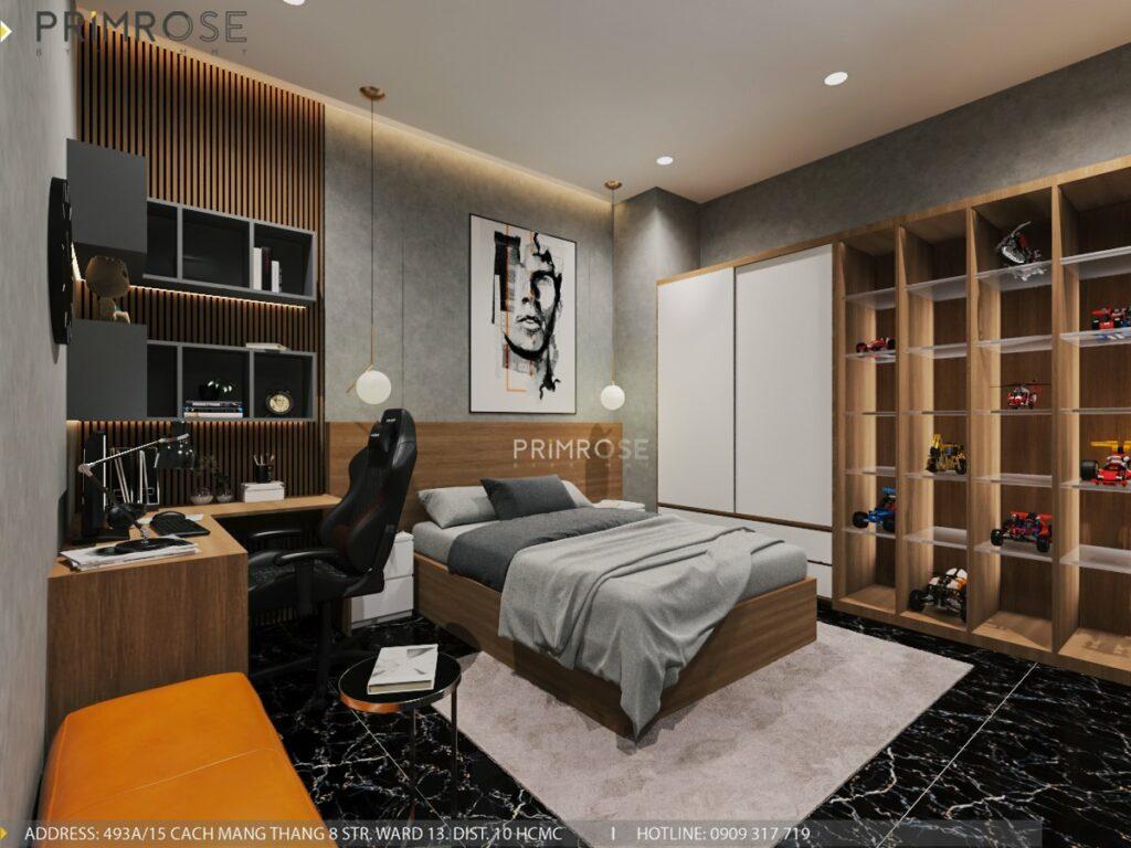 Thiết kế nội thất nhà phố 1 trệt 1 lầu diện tích 150m2 thiet ke noi that nha pho hien dai 6 1