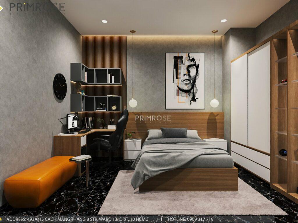 Thiết kế nội thất nhà phố 1 trệt 1 lầu diện tích 150m2 thiet ke noi that nha pho hien dai 8