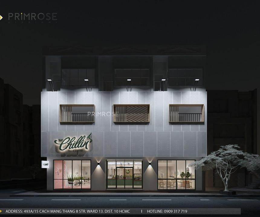 Thiết kế quán The Chillin Tea & Coffee 750m2 tại Bà Rịa, Vũng Tàu thiet ke quan cafe hien dai 1