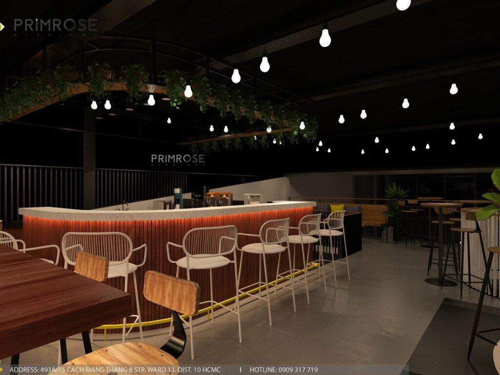 Thiết kế quán cafe Lounge Smile 700m2 thiet ke quan cafe hien dai 12 1