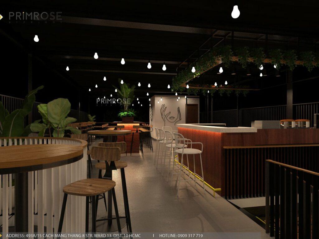 Thiết kế quán cafe Lounge Smile 700m2 thiet ke quan cafe hien dai 13 1