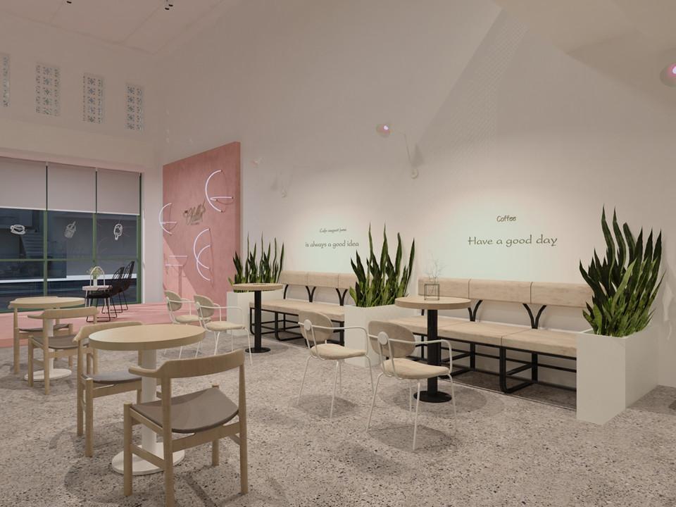 Thiết kế quán The Chillin Tea & Coffee 750m2 tại Bà Rịa, Vũng Tàu thiet ke quan cafe hien dai 15
