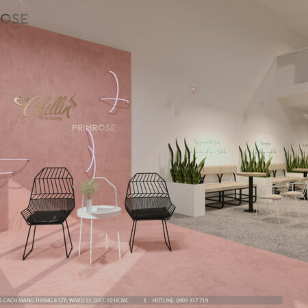 Thiết kế quán The Chillin Tea & Coffee 750m2 tại Bà Rịa, Vũng Tàu