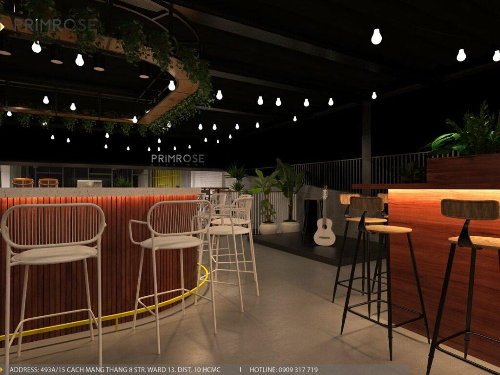 Thiết kế quán cafe Lounge Smile 700m2 thiet ke quan cafe hien dai 24 1