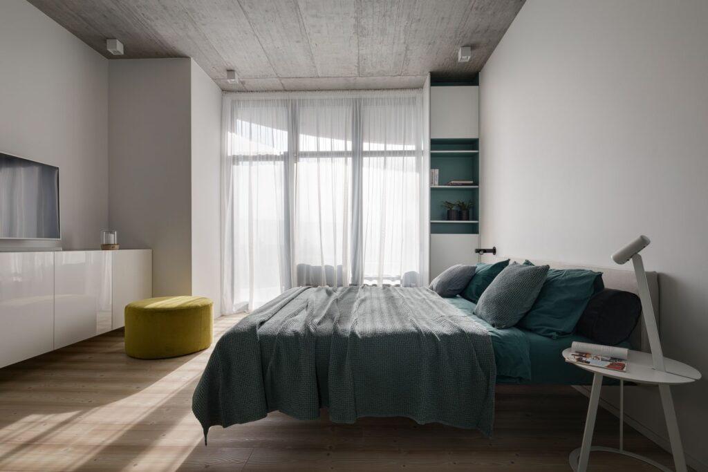 Mẫu căn hộ ấm áp với tông xám tối giản thiet ke can ho hien dai 10