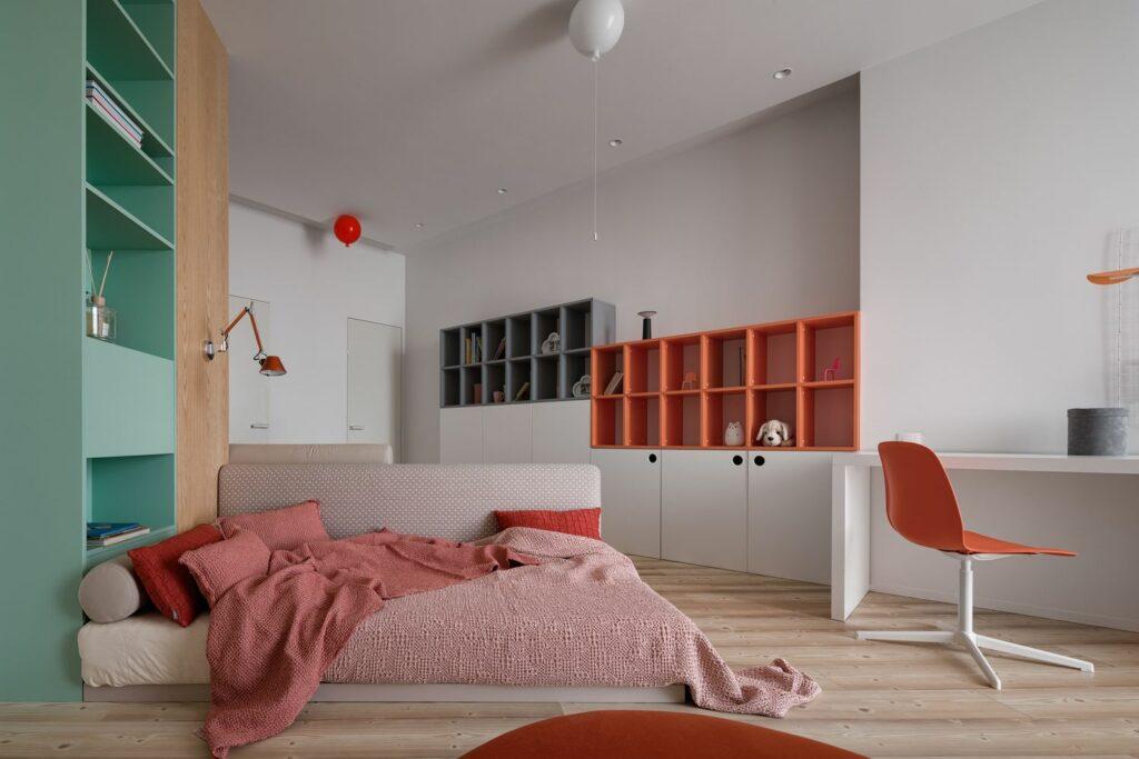 Mẫu căn hộ ấm áp với tông xám tối giản thiet ke can ho hien dai 12