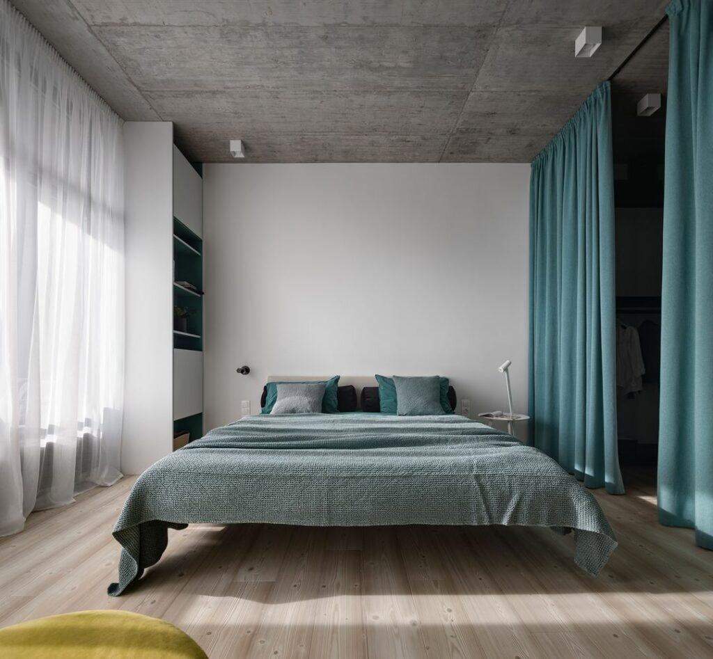 Mẫu căn hộ ấm áp với tông xám tối giản thiet ke can ho hien dai 6