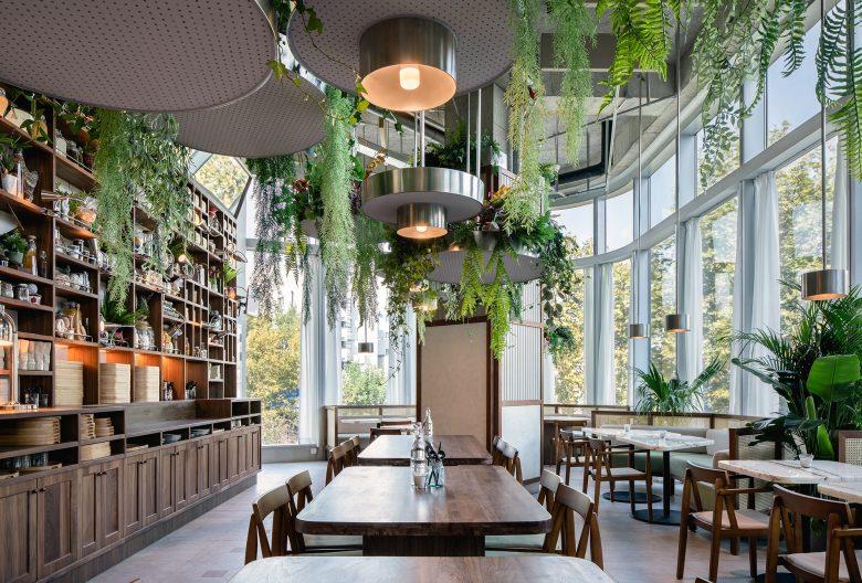 Không gian nhà hàng phá cách với phong cách nội thất TROPICAL thiet ke nha hnag phong cach nhiet doi 16