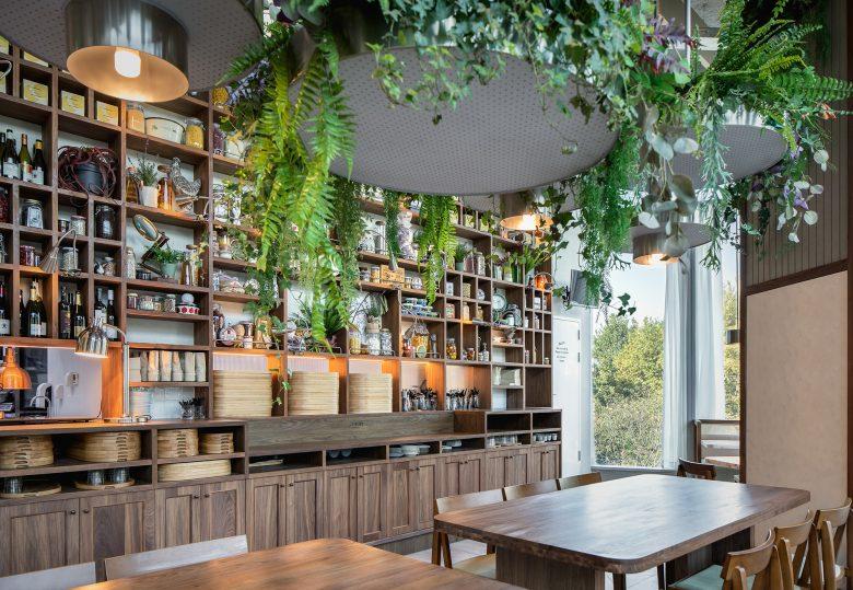 Không gian nhà hàng phá cách với phong cách nội thất TROPICAL thiet ke nha hnag phong cach nhiet doi 2