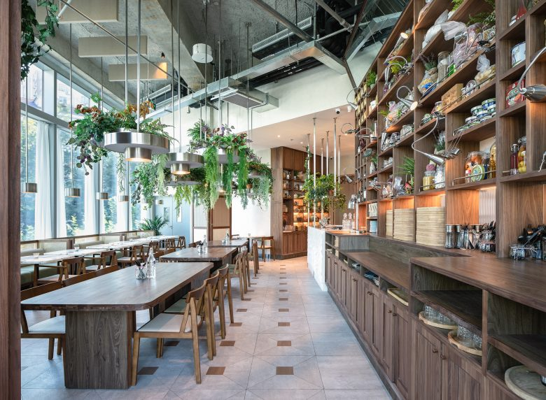 Không gian nhà hàng phá cách với phong cách nội thất TROPICAL thiet ke nha hnag phong cach nhiet doi 6