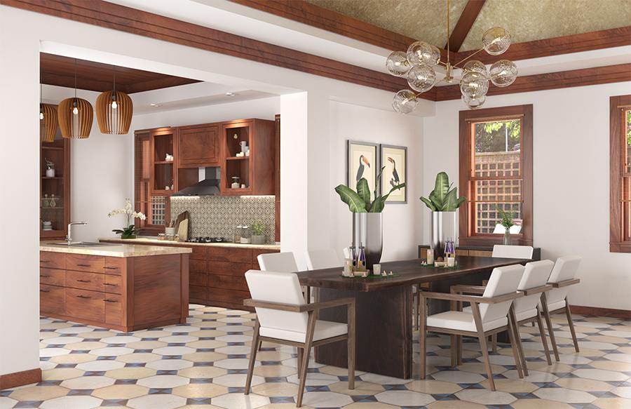 Thiết kế nội thất căn hộ phong cách Indochine - Mang vẻ đẹp hoài cổ thiet ke noi that can ho phong cach INDOCHINE 2