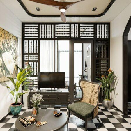 Thiết kế nội thất căn hộ phong cách Indochine – Mang vẻ đẹp hoài cổ