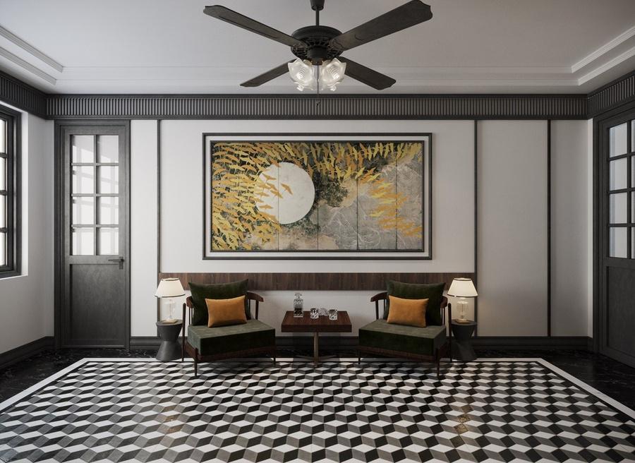 Thiết kế nội thất căn hộ phong cách Indochine - Mang vẻ đẹp hoài cổ thiet ke noi that can ho phong cach INDOCHINE 4