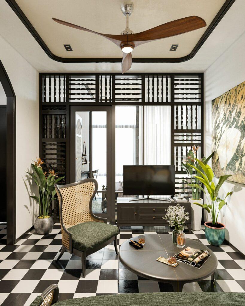 Phong cách nội thất Indochine - Sự giao thoa giữa phong cách Đông - Tây thiet ke noi that phong cach Indochine 1