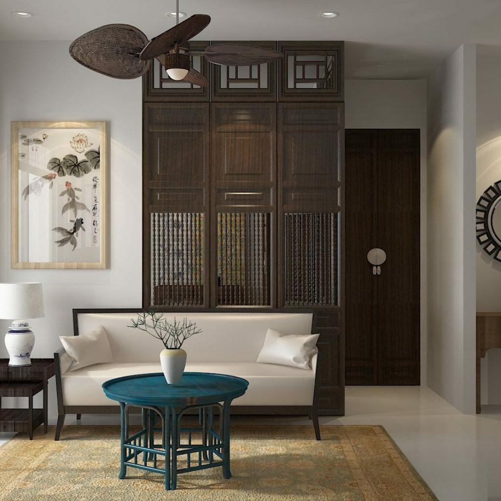 Phong cách nội thất Indochine - Sự giao thoa giữa phong cách Đông - Tây thiet ke noi that phong cach Indochine 2