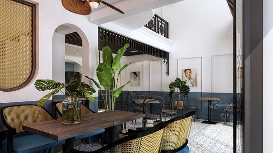 Thiết kế nội thất quán cafe phong cách Indochine thiet ke quan cafe phong cach Indochine 1