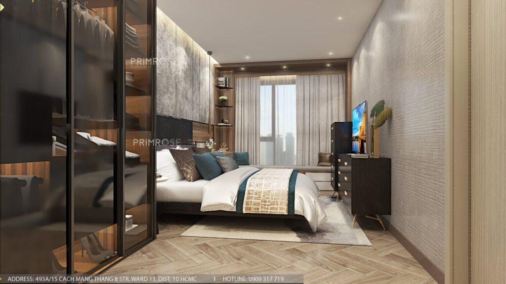 Thiết kế nội thất căn hộ Lavida Plus 77m2 thiet ke can ho 2phong ngu 2