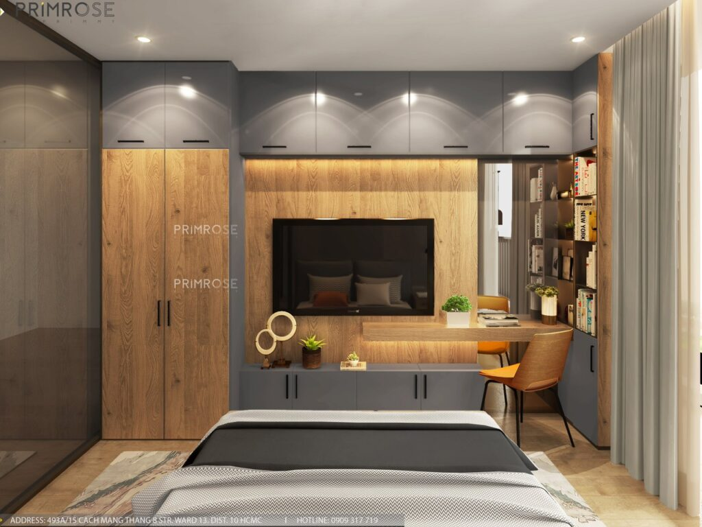 Thiết kế nội thất căn hộ Lavida Plus 77m2 thiet ke can ho 2phong ngu 4