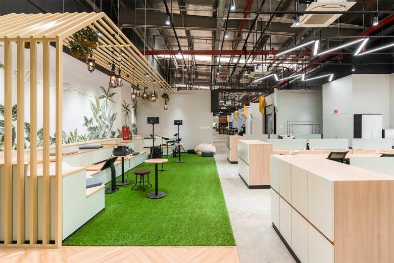 Văn phòng làm việc thiết kế phong cách công nghiệp hiện đại thiet ke van phong phong cach cong nghiep 10