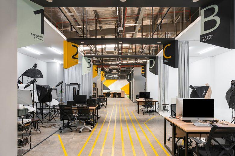 Văn phòng làm việc thiết kế phong cách công nghiệp hiện đại thiet ke van phong phong cach cong nghiep 3