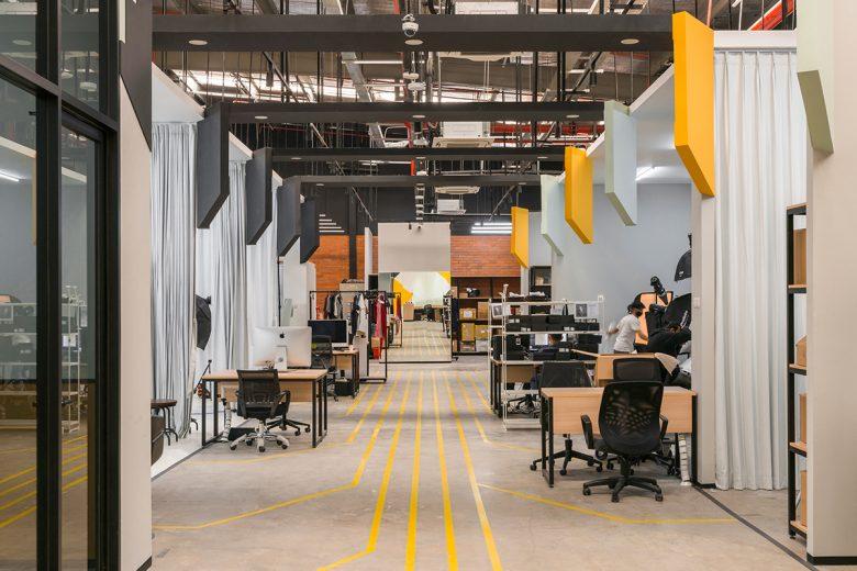 Văn phòng làm việc thiết kế phong cách công nghiệp hiện đại thiet ke van phong phong cach cong nghiep 8