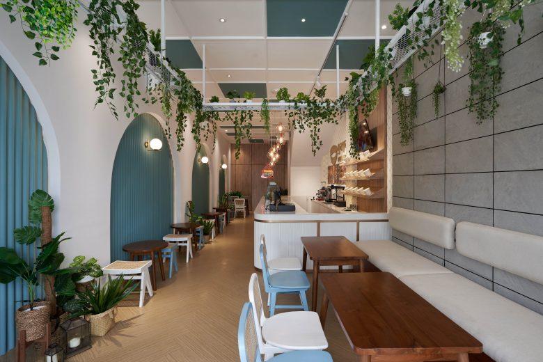 """""""Tô xanh"""" thiết kế nhà hàng phong cách nhiệt đới to diem khong gian nha hang phong cach nhiet doi 1"""