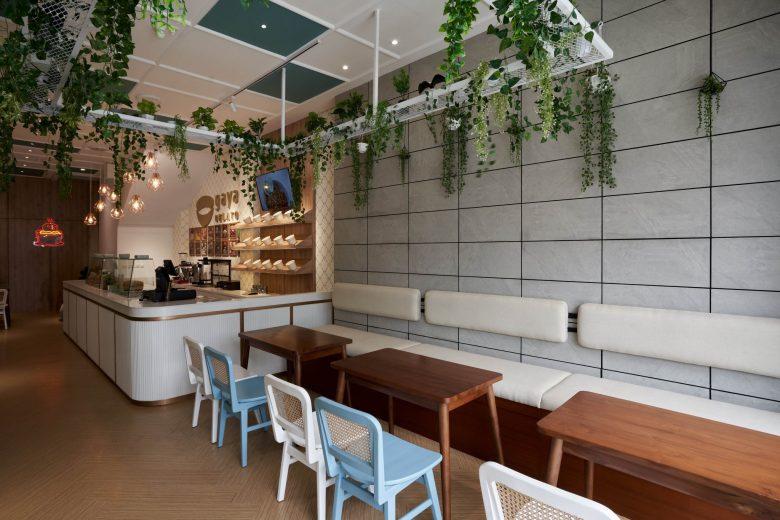 """""""Tô xanh"""" thiết kế nhà hàng phong cách nhiệt đới to diem khong gian nha hang phong cach nhiet doi 2"""